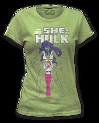 She Hulk The Savage Heather Green Short Sleeve Junior T-shirt