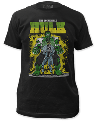 Incredible Hulk Transforming Black Short Sleeve Adult T-shirt