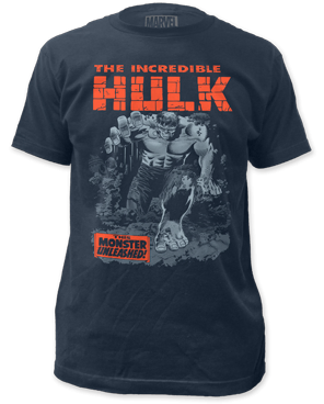 Incredible Hulk Breakthrough Black Short Sleeve Adult T-shirt