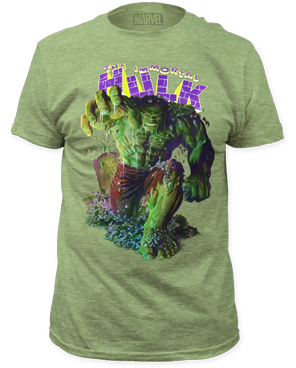 Incredible Hulk Immortal Hulk Heather Green Short Sleeve Adult T-shirt