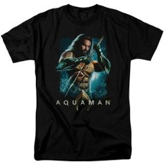 Aquaman Trident Black Short Sleeve Adult T-shirt