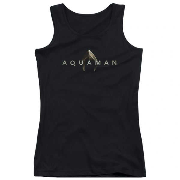 Aquaman Logo Black Junior Tank Top T-shirt