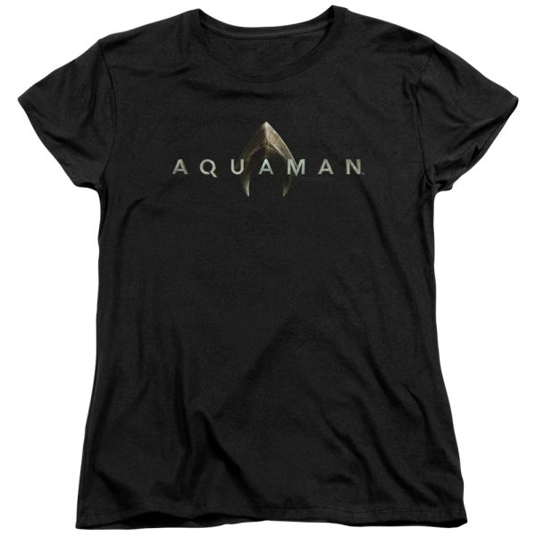 Aquaman Logo Black Short Sleeve Women's T-shirt