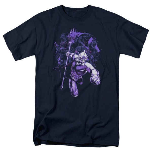 Aquaman Evil Doers Navy Short Sleeve Adult T-shirt