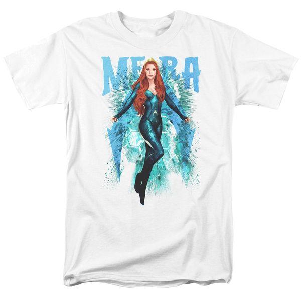 Aquaman Mera White Short Sleeve Adult T-shirt