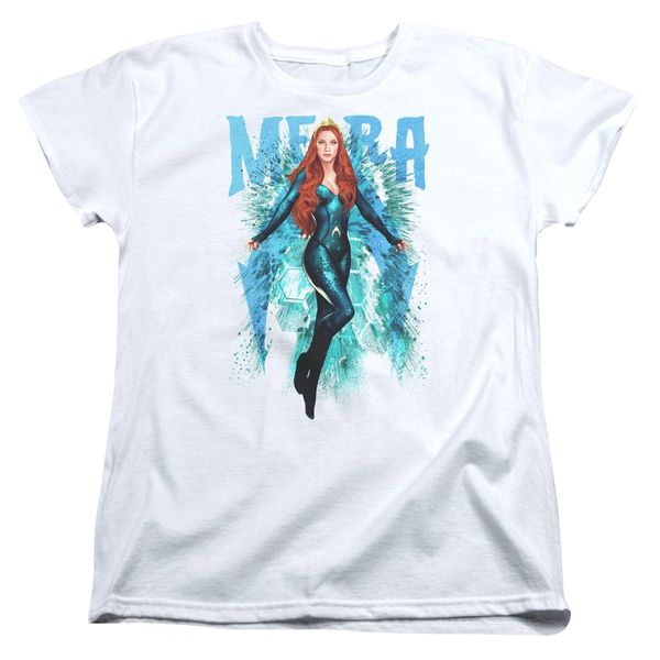 Aquaman Mera White Short Sleeve Women's T-shirt