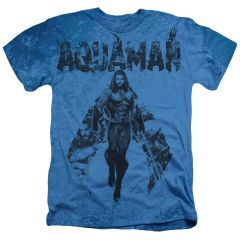 Aquaman Aqua Group Light Blue Short Sleeve Adult T-shirt