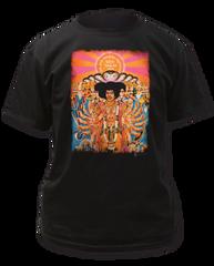 Jimi Hendrix Axis Bold as Love Black Short Sleeve Adult T-shirt