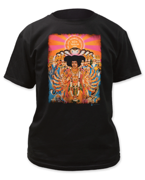 Jimi Hendrix Axis Bold as Love Black Short Sleeve Adult T-shirt