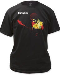 Jimi Hendrix Bank of Gypsies Black Short Sleeve Adult T-shirt