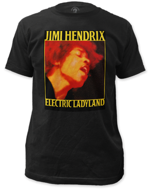 Jimi Hendrix Electric Ladyland Coal Short Sleeve Adult T-shirt