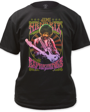 Jimi Hendrix Experience Black Short Sleeve Adult T-shirt