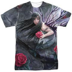 Annie Stokes Rose Fairy White Short Sleeve Adult T-shirt