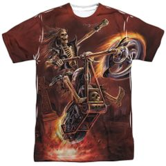 Annie Stokes Hell Rider White Short Sleeve Adult T-shirt