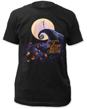 The Nightmare Before Christmas Poster Black Short Sleeve Adult T-shirt
