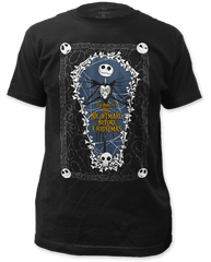The Nightmare Before Christmas Coffin Black Short Sleeve Adult T-shirt