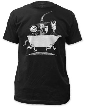 The Nightmare Before Christmas Lock Shock and Barrel Black Short Sleeve Adult T-shirt