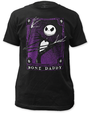 The Nightmare Before Christmas Bone Daddy Black Short Sleeve Adult T-shirt