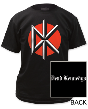 Dead Kennedys Logo with Back Print Black Short Sleeve Adult T-shirt