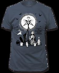 The Nightmare Before Christmas Graveyard Indigo Short Sleeve Adult T-shirt
