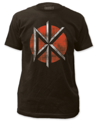Dead Kennedys Distressed Logo Black Cotton Short Sleeve Adult T-shirt