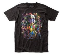 The Avengers End Game Black Short Sleeve Adult T-shirt