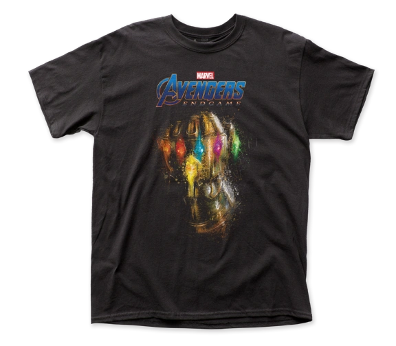 The Avengers End Game Infinity Gauntlet Black Short Sleeve Adult T-shirt