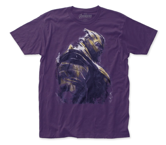 The Avengers End Game Thanos Purple Short Sleeve Adult T-shirt