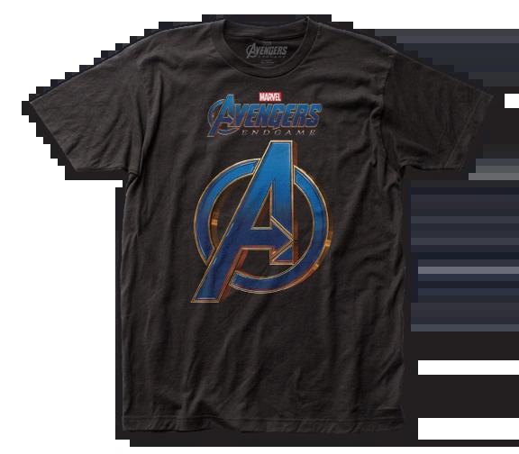 The Avengers End Game Logo Black Short Sleeve Adult T-shirt