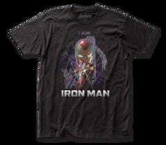 The Avengers End Game I Am Iron Man Black Short Sleeve Adult T-shirt