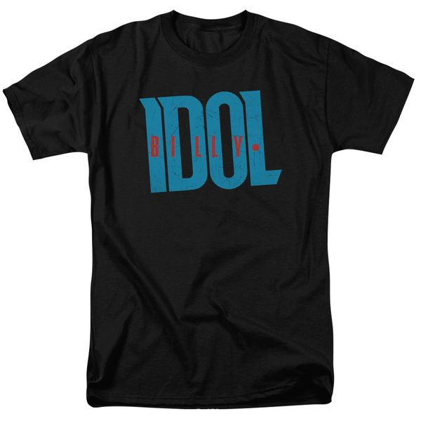 Billy Idol Logo Black Short Sleeve Adult T-shirt