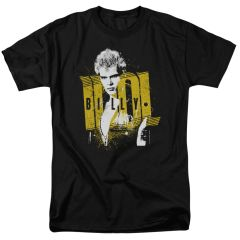 Billy Idol Brash Black Short Sleeve Adult T-shirt