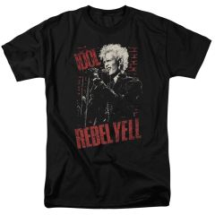 Billy Idol Brick Wall Black Short Sleeve Adult T-shirt
