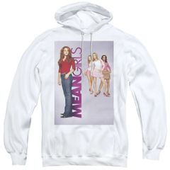 Mean Girls Poster Art White Adult Pull Over Hoodie