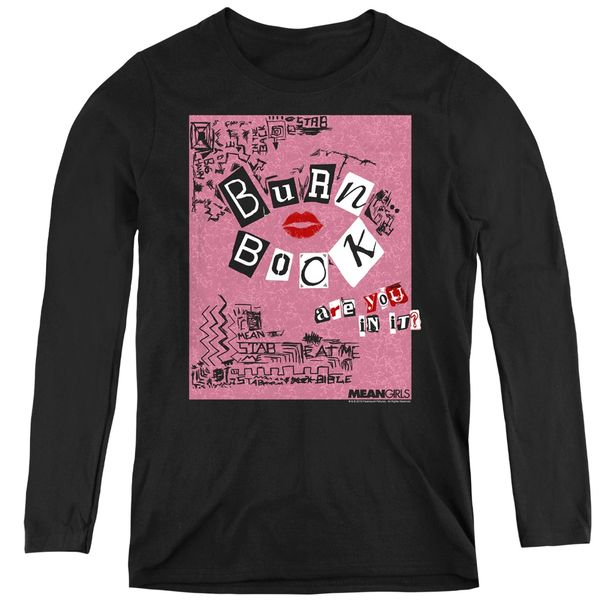 Mean Girls Burn Book Black Women's Long Sleeve T-shirt