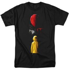 It Red Balloon Black Short Sleeve Adult T-shirt