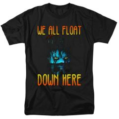It We All Float Down Here Black Short Sleeve Adult T-shirt