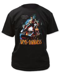 Army of Darkness Trapped in Time Black Short Sleeve Adult T-shirt