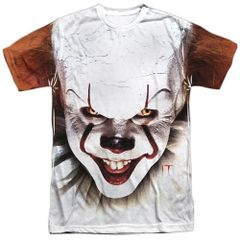 It Pennywise At Large White Short Sleeve Adult T-shirt