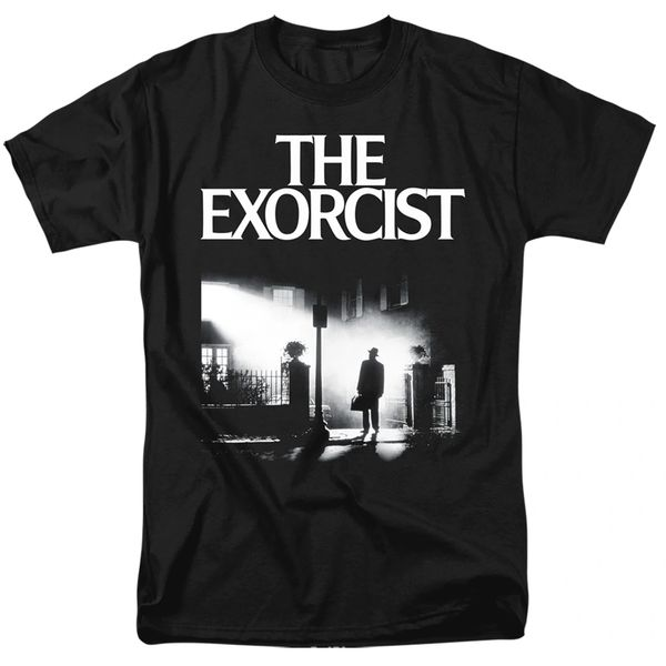 The Exorcist Poster Black Short Sleeve Adult T-shirt