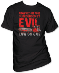 Army of Darkness Low on Gas Black Short Sleeve Adult T-shirt