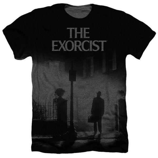 The Exorcist Black Poster Black Short Sleeve Adult T-shirt