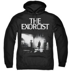 The Exorcist Poster Black Adult Pull Over Hoodie