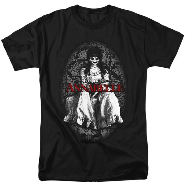 Annabelle Black and White Black Short Sleeve Adult T-shirt
