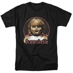 Annabelle Annabelle Portrait Black Short Sleeve Adult T-shirt