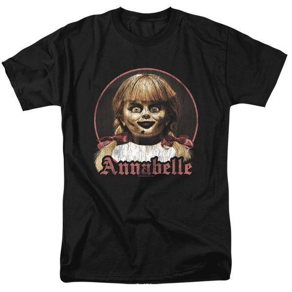 Annabelle Annabelle Portrait Black Short Sleeve Adult T-shirt
