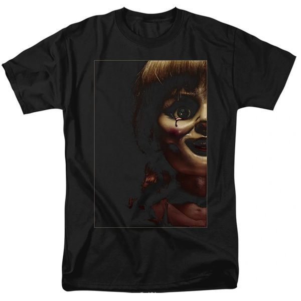 Annabelle Doll Tear Black Short Sleeve Adult T-shirt