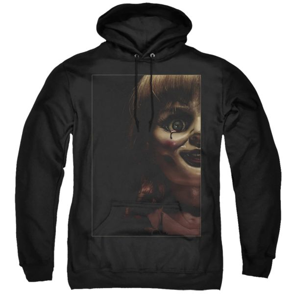 Annabelle Doll Tear Black Adult Pull Over Hoodie