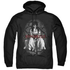 Annabelle Black and White Black Adult Pull Over Hoodie