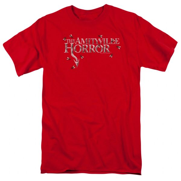 The Amityville Horror Flies Red Short Sleeve Adult T-shirt